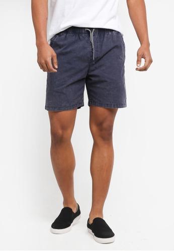 Billabong 海軍藍色 抽繩休閒彈性短褲 BI783AA0SXRAMY_1