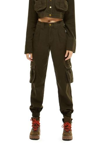 Brave Soul Acid Wash Cotton Cargo Skirt Zip Front /& Pockets Denim Blue /& Khaki