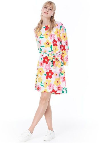 United Colors of Benetton multi Allover Printed Dress 298B6AA77FE2D4GS_1