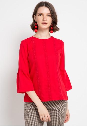 B.L.F red Emma Lace Top 9A044AA06F1778GS_1