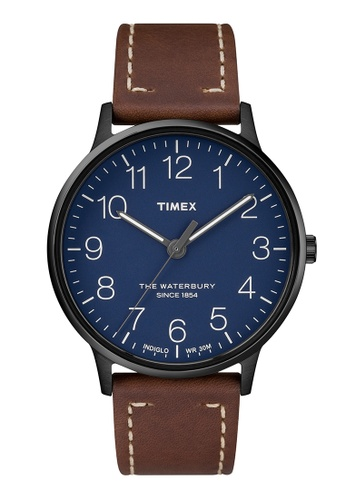 TIMEX blue and brown Timex The Waterbury™ - TW2R25700 TI205AC0RESZMY_1