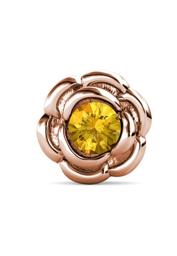 Her Jewellery gold Petunia Brooch (November, Rose Gold)-  Made with premium grade crystals from Austria 6D5AEAC41455D7GS_1