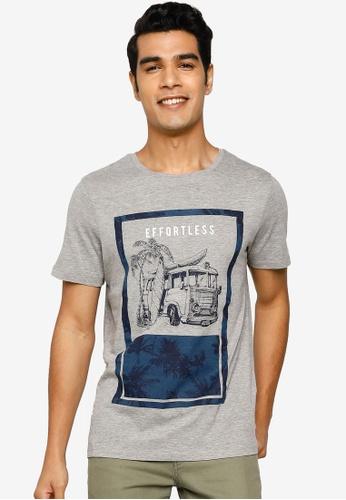Jack & Jones grey Nature Short Sleeve T-Shirt FD7C4AAA61EA2EGS_1