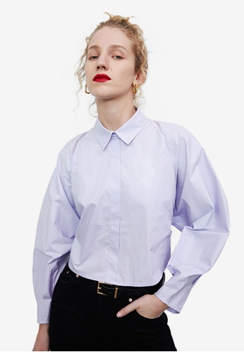 Urban Revivo purple Tie Waist Shirt 060BAAA25DC279GS_1