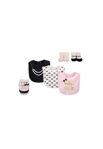 Little Kooma white and pink Baby Bibs n Socks 5 Pcs Set 75531 - 0528 4BB45KC3920337GS_1