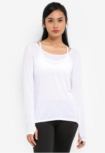 Cotton On Body white Long Sleeve Sports Top 481BDAAB12BEBFGS_1