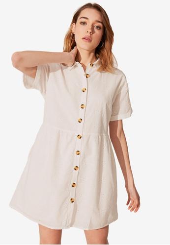 LC WAIKIKI beige Fisto Shirt Dress 71B71AAF6DEC48GS_1