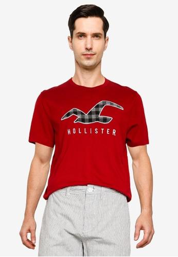 Hollister red Tech Buffalo Check Tee E20D1AA5F4B8A9GS_1