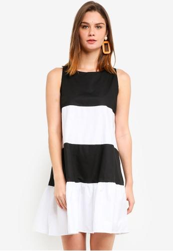 Haute Kelly black and white Hyun Ae Color Block Dress 684E7AA455EADDGS_1