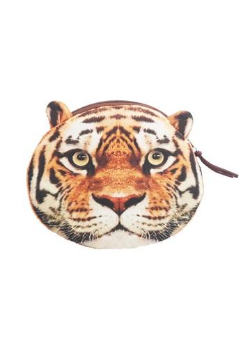 San Marco brown Tiger Face 3D Coin Case 17C0BAC868DF8BGS_1