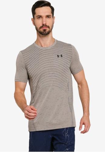 Under Armour 褐色 Seamless Short Sleeves Novelty T-shirt E2722AA003DC93GS_1