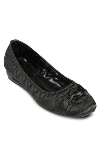菱形絎縫扭飾娃娃鞋, zalora 台灣門市女鞋, 芭蕾平底鞋