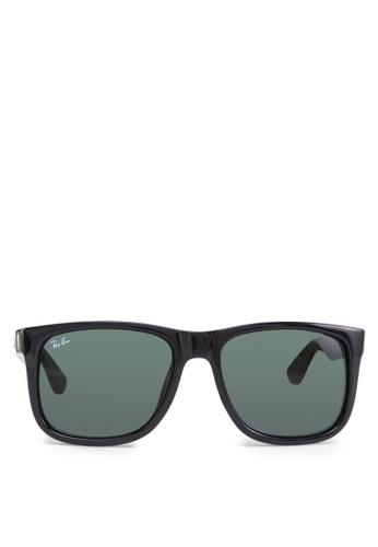 Ray-Ban black Justin RB4165 Sunglasses RA370GL71GOQSG_1