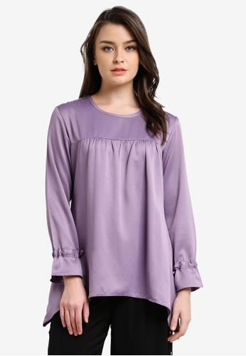 Aqeela Muslimah Wear purple Empire Waist Top AQ371AA0RT8LMY_1