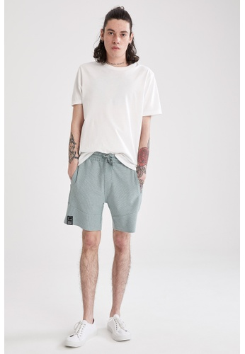 DeFacto green Slim Fit Sweatshirt Bermuda Shorts 507ACAA9616AB9GS_1