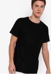 ZALORA black Textured Jersey Tee 576EBAAC73B1BCGS_1