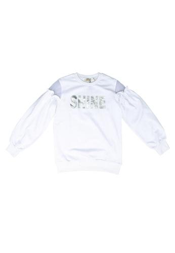KOTON white Ruffle Sweatshirt 7FC0DKA31C3886GS_1