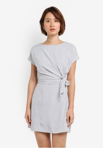 ZALORA white Ring Belted Dress A06D4AAE1A4A95GS_1