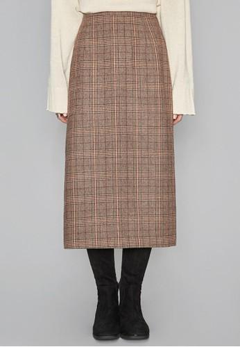 格esprit 折扣子開叉長裙, 服飾, 及膝裙
