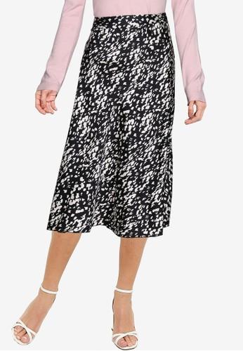 Vero Moda black Christas Satin High Waist Skirt C9AF6AAD93CA46GS_1