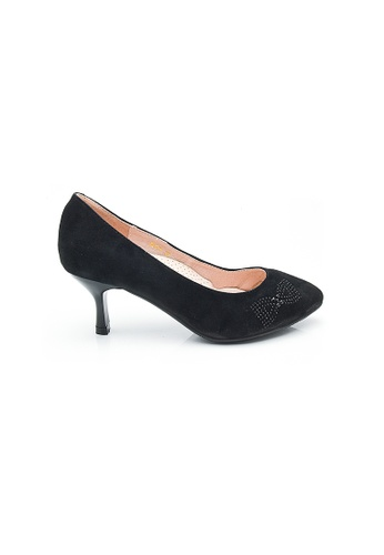 Elisa Litz black Rebecca Low Heels (Black) 62A93SHF9A23A2GS_1