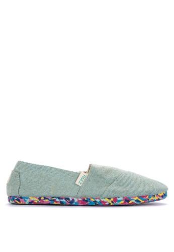 Paez green Multicolor Slip On Sneakers B0EE4SH3A81C63GS_1