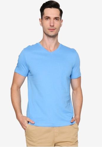 OVS blue Round Neckline T-Shirt 3BDB6AA7C80DB8GS_1