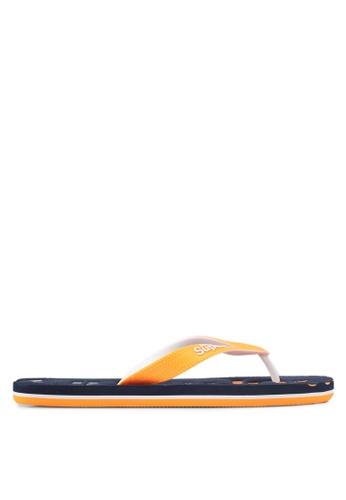 Superdry orange and navy Scuba Faded Flip Flops 805A4SH6750B5DGS_1
