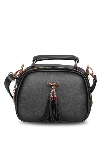 Quincy Label black Sling Bag Tassel Selempang Hitam - Quincylabel 1ABABAC82D776BGS_1