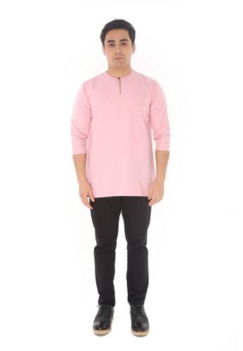 Amar Amran pink Kurta Johor D1B17AA4FE6850GS_1