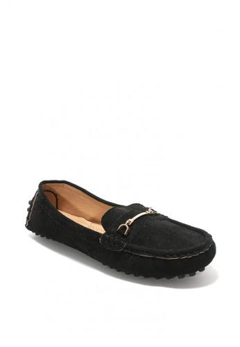 7soles black Lillemor Ladies Loafers BC216SHA0089F4GS_1