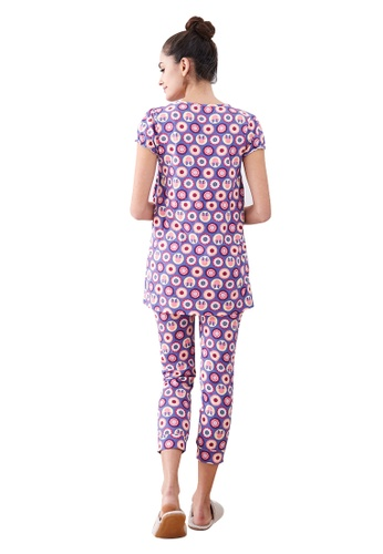8531bff62d Buy Mamaway Minnie Dot Pattern Maternity   Nursing Pajamas  Sleepwear Set  Online