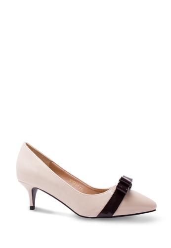 Sepatu Wanita Mid Heel Off White
