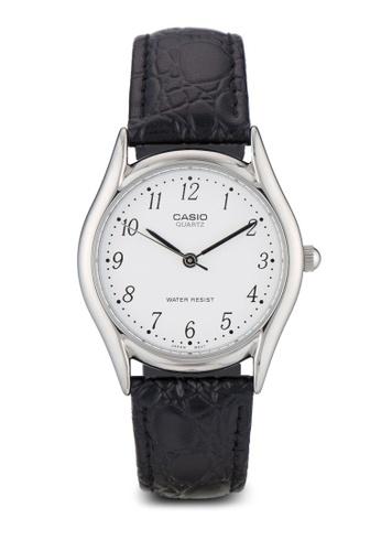 Casio multi Casio Men's Black Leather Strap Watch CA843AC29XYCMY_1