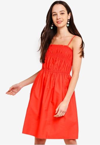 Something Borrowed 橘色 Smocked Cami Dress 9C7DEAA2EE686CGS_1