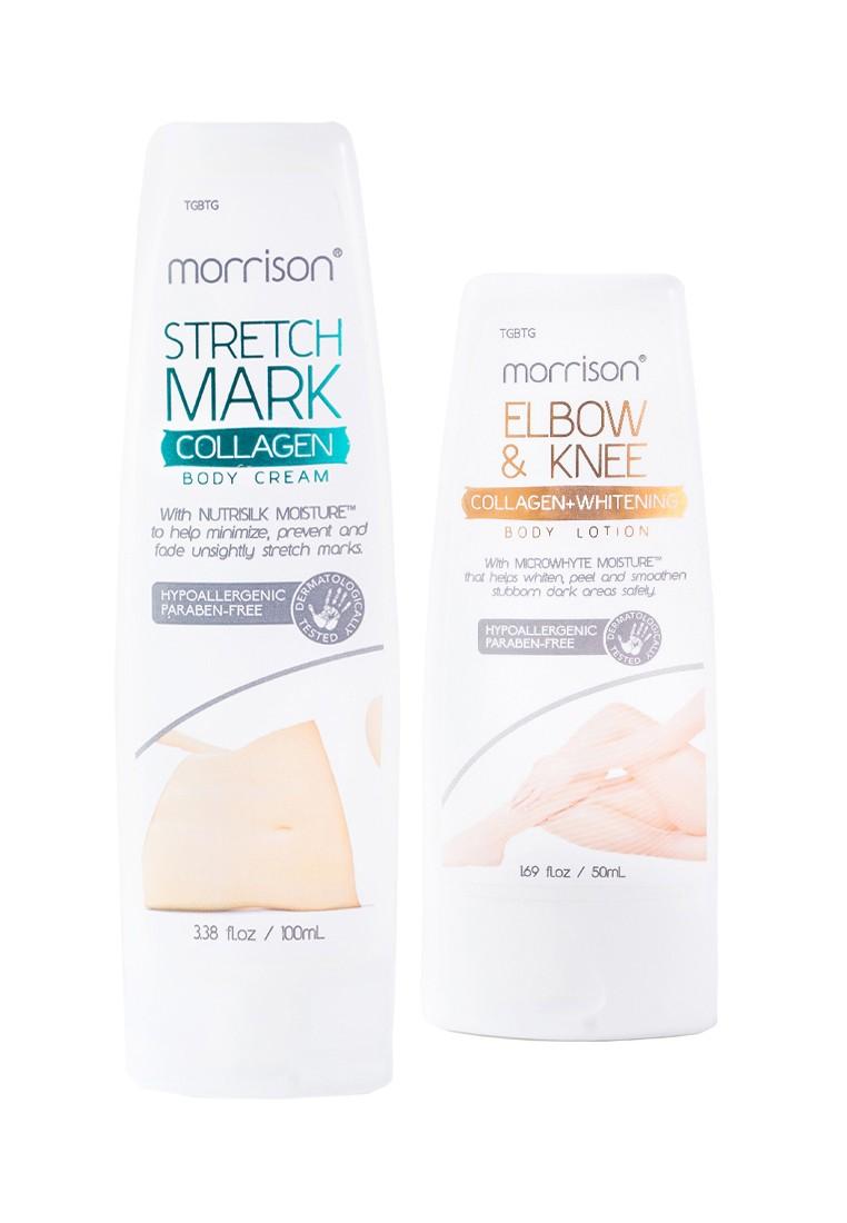 Morrison Stretch Mark Collagen Body Cream 100ml + Morrison Elbow and Knee Whitening Body Lotion 50ml