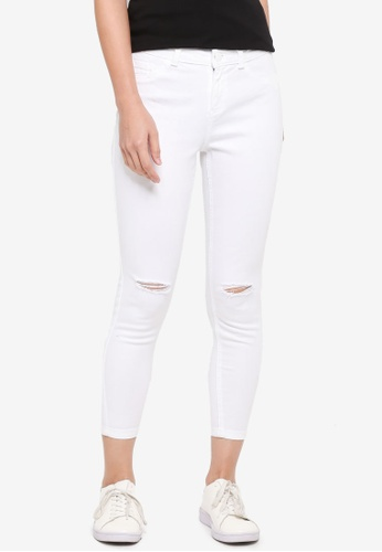 Dorothy Perkins white Petite White 'Darcy' Jeans 4F917AA58DCA58GS_1