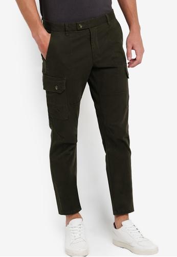 SPARROW GREEN green Kendrix Cargo Slim Pants SP065AA81XPMMY_1
