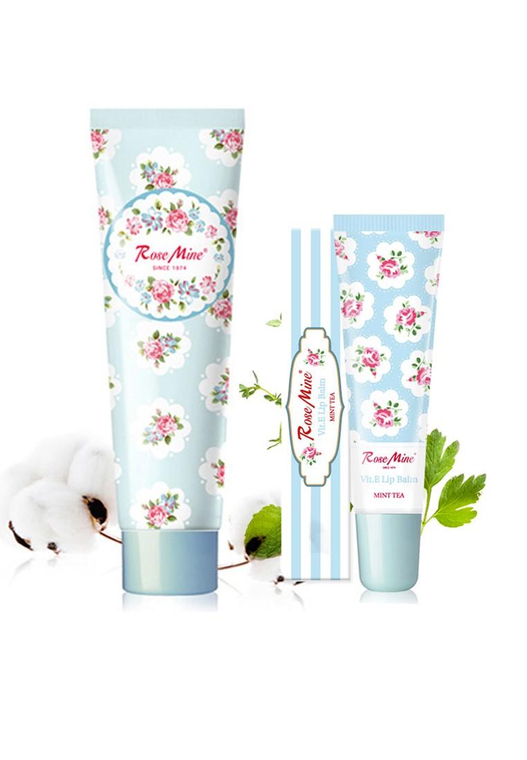 Rosemine Hand Cream & Lip Balm Combo - Blue