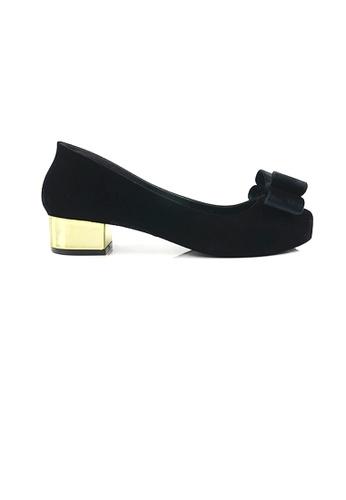 SHINE black Ribbon Jelly Heels E7A6ESHA77EBFAGS_1