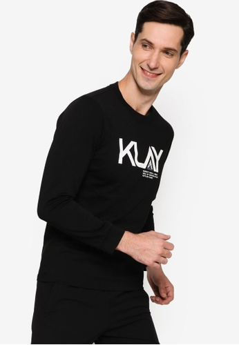 Anta black KT Long Sleeve Tee A40C3AAF90CB42GS_1