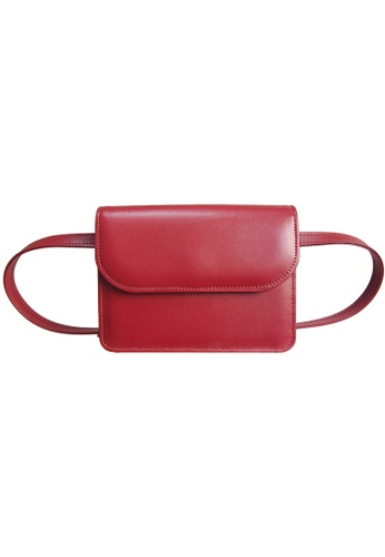 72 SMALLDIVE red 72 Smalldive Unisex Buffed Leather Belt Pouch 3749AAC4FBF9D5GS_1