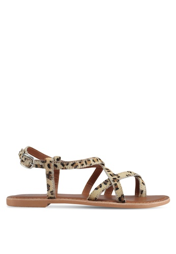 TOPSHOP brown Hiccup Strappy Sandals C8D16SH84CDE15GS_1