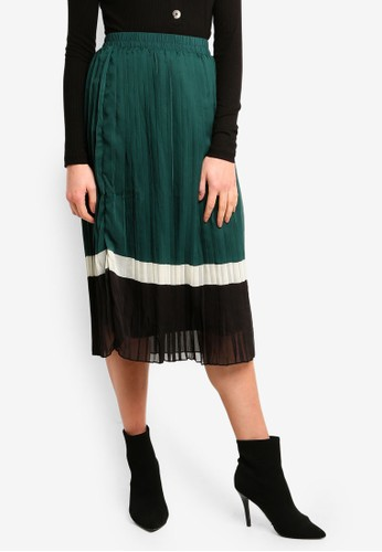 Vero Moda green Yasmin Pleat Midi Skirt 6D050AA3A4995FGS_1