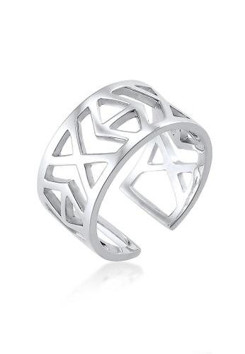 Elli Germany silver Elli Germany Ring 925 Sterling Silver IKAT Cut Out EL474AC0S206MY_1