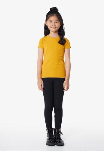 Gen Woo yellow Ochre Rib T-shirt By Gen Woo 26B5BKA2F3C497GS_1