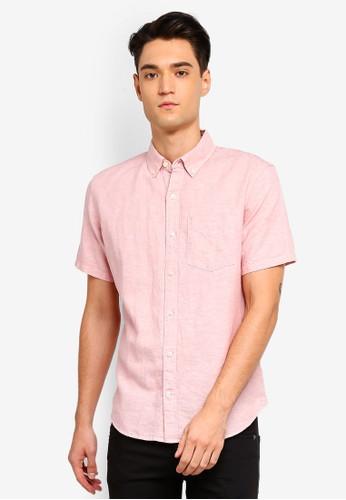 GAP pink Short Sleeve Linen Katun Shirt E1BD5AA8C4441FGS_1