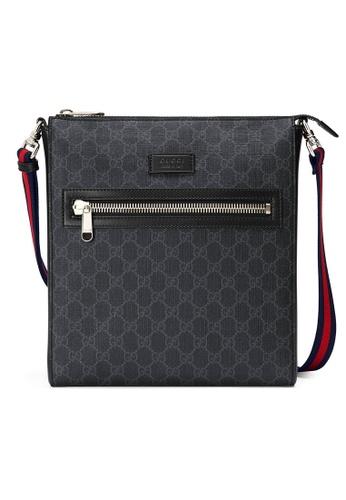 Gucci black Gucci Gg Supreme Messenger Bag in Black CF86CACD972A84GS_1