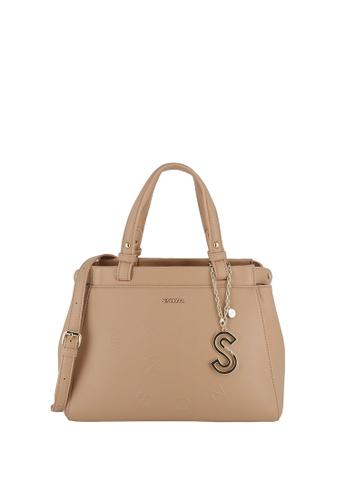 SEMBONIA brown Top-Handle Satchel Bag 46C2DACC2422B9GS_1