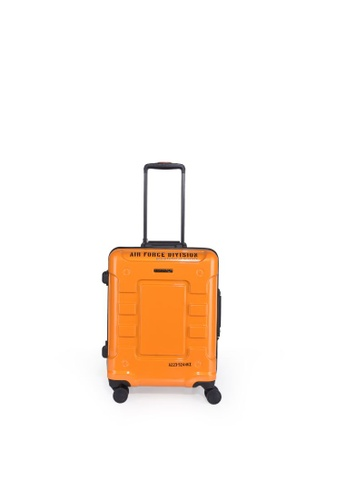 """Lushberry black and red and yellow and green and silver Airwolf 4 Hardcase Cabin Size Luggage-19"""" 40D42ACAF7B320GS_1"""
